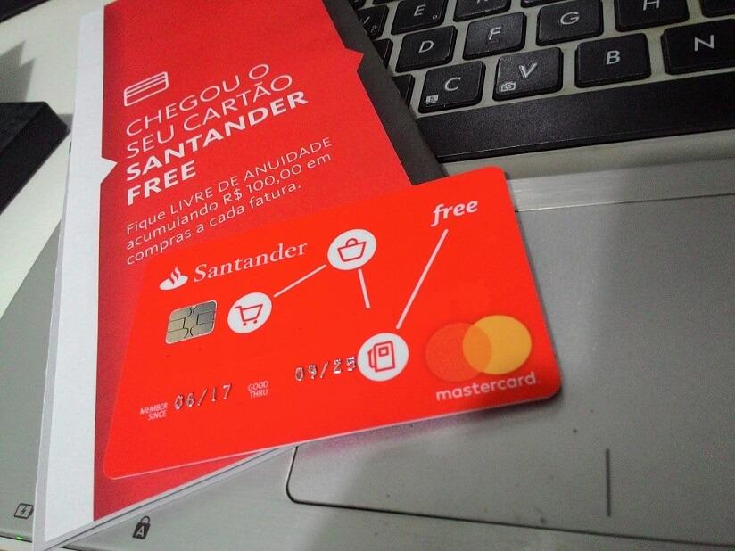 Cartão Free – sem anuidade e do Santander! Saiba como solicitar